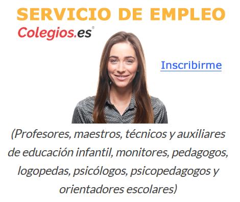 empleo profesores maestros colegios